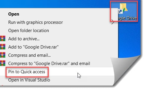 How to Add Google Drive to Quick access