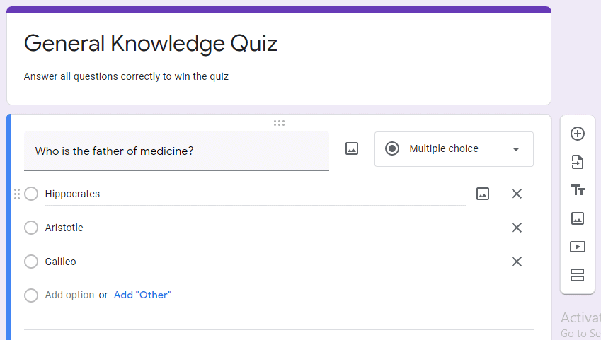 How to create a Google Docs Quiz template from scratch