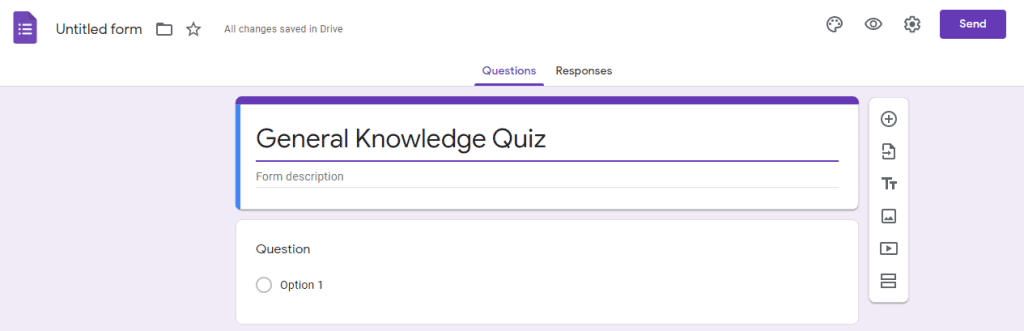 How to create a quiz template in Google Docs