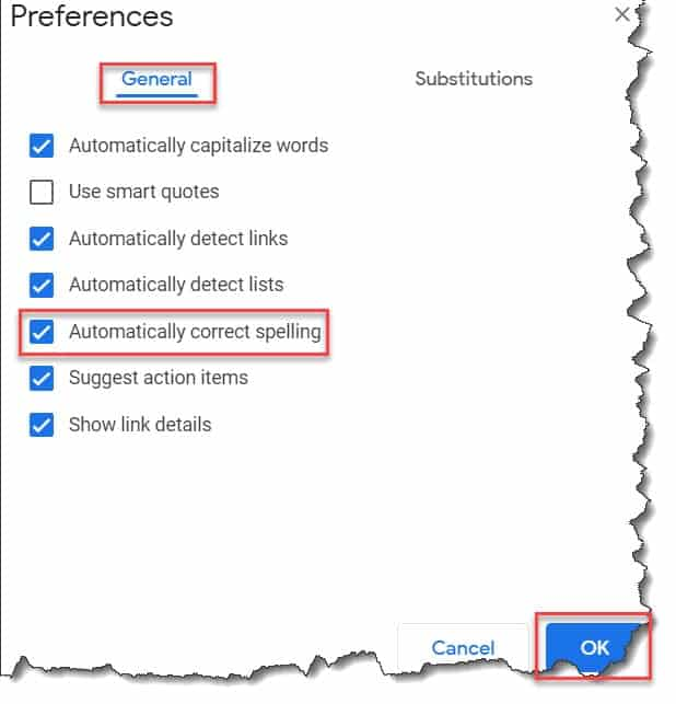 How to put autocorrect on Google Docs