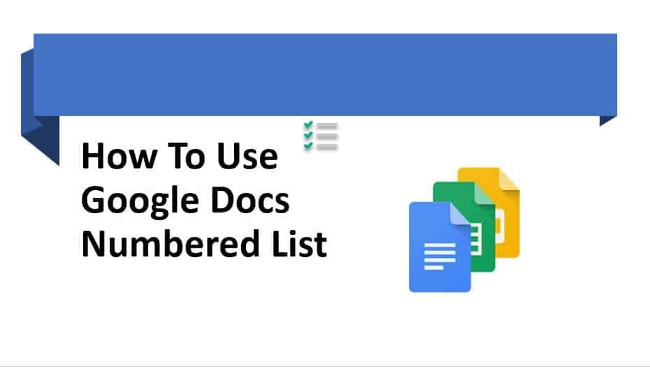 How to use Google docs numbered list