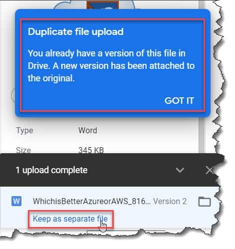 Stop Google Drive from duplicating files