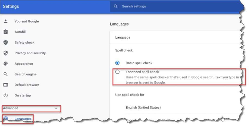 how to fix spell check in google docs