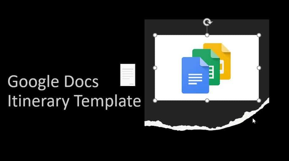 Google Docs Itinerary Template