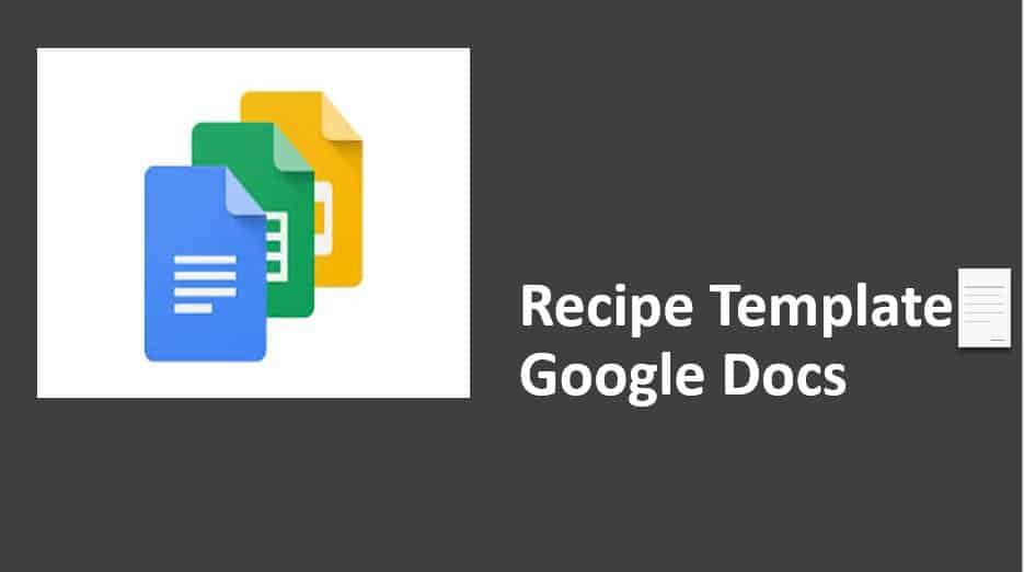 Recipe Template Google Docs