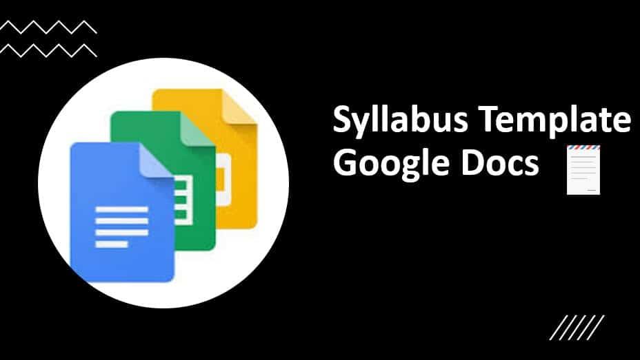 Syllabus Template Google Docs