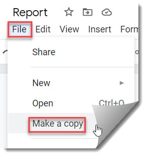 Duplicate A Page In Google Docs