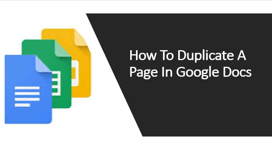 How To Duplicate A Page In Google Docs