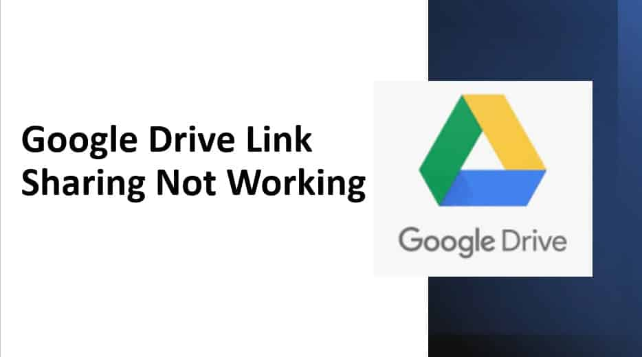 Google Drive Link Sharing Not Working